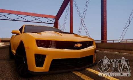 Chevrolet Camaro ZL1 2014 para la visión correcta GTA San Andreas