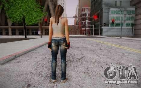 Hitomi из Vivo o Muerto para GTA San Andreas segunda pantalla