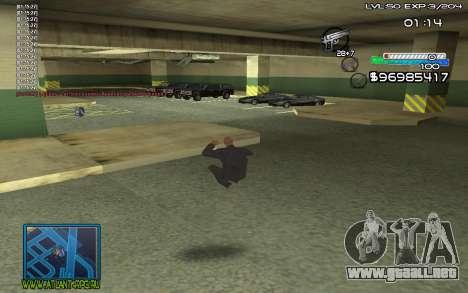 С-HUD por SteelMan para GTA San Andreas segunda pantalla