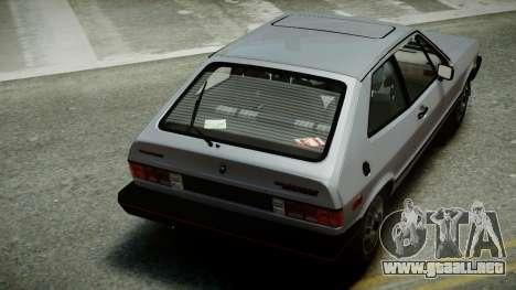 Volkswagen Scirocco S 1981 para GTA 4 vista interior