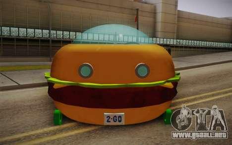 Spongebobs Burger Mobile para la visión correcta GTA San Andreas