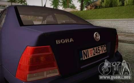 Volkswagen Bora para visión interna GTA San Andreas