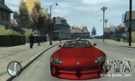 Dodge Viper SRT-10 2003 v2.0 para GTA 4 vista hacia atrás