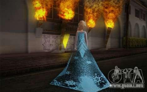 Frozen Elsa para GTA San Andreas segunda pantalla