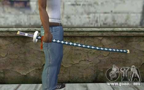 One Piece Sword Trafalgar Law para GTA San Andreas tercera pantalla