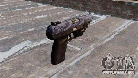 Pistola FN Five seveN LAM Azul de Camuflaje para GTA 4 segundos de pantalla