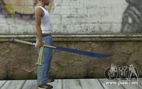 One Piece Black Sword para GTA San Andreas tercera pantalla