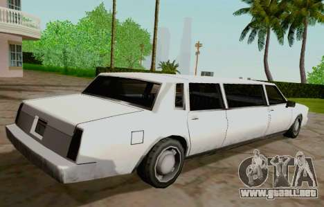 Tahoma Limousine para GTA San Andreas vista posterior izquierda