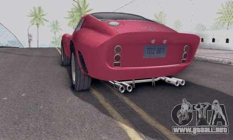 Ferrari 250 GTO 1962 para GTA San Andreas left