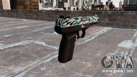 Pistola FN Five seveN Aqua Camo para GTA 4 segundos de pantalla