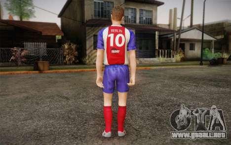 Futbolista para GTA San Andreas segunda pantalla
