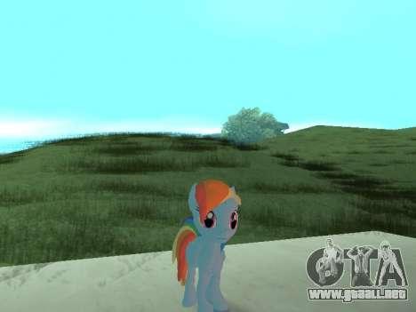 Rainbow Dash para GTA San Andreas tercera pantalla