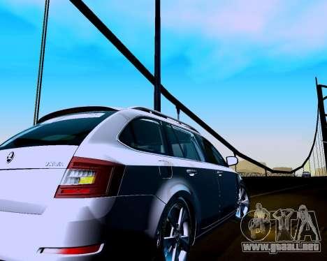Skoda Octavia A7 Combi para la visión correcta GTA San Andreas