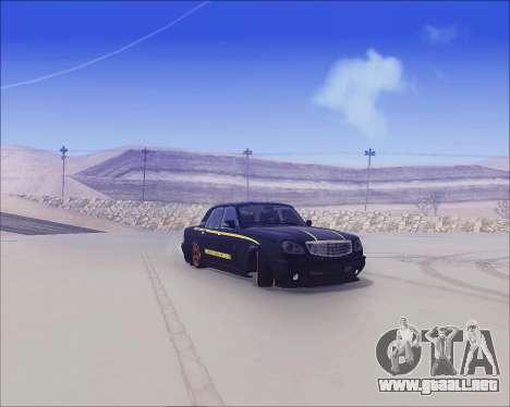 GAZ 31105 Sintonizable para GTA San Andreas vista posterior izquierda