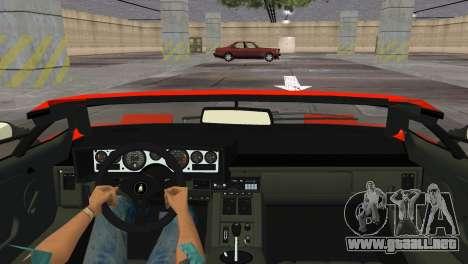 Lamborghini Countach LP5000 Extreme para GTA Vice City visión correcta
