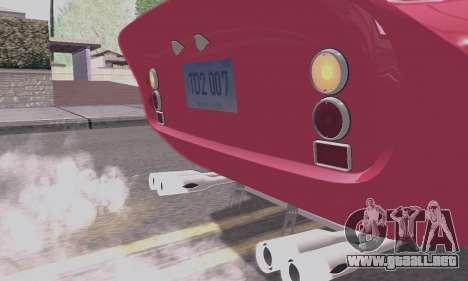 Ferrari 250 GTO 1962 para la vista superior GTA San Andreas