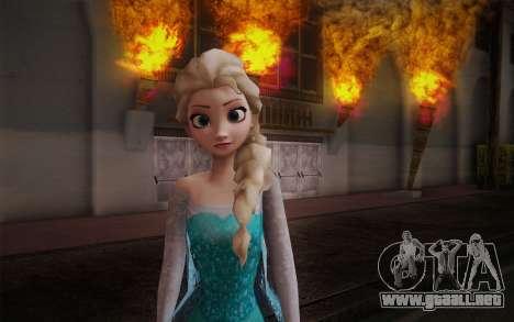Frozen Elsa para GTA San Andreas tercera pantalla