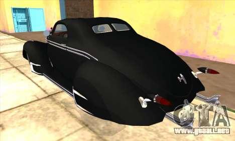 Lincoln Zephyr 1946 para GTA San Andreas vista hacia atrás