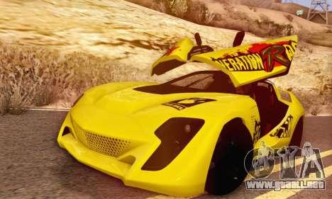 Bertone Mantide 2010 Rock Generation para GTA San Andreas vista hacia atrás