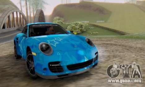 Porsche 911 Turbo Blue Star para GTA San Andreas