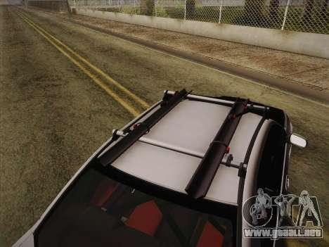 Subaru Impreza Hellaflush para GTA San Andreas vista hacia atrás