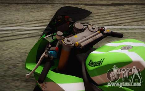 Kawasaki ZX-10R Ninja para GTA San Andreas vista hacia atrás