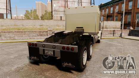 GTA V JoBuilt Phantom para GTA 4 Vista posterior izquierda