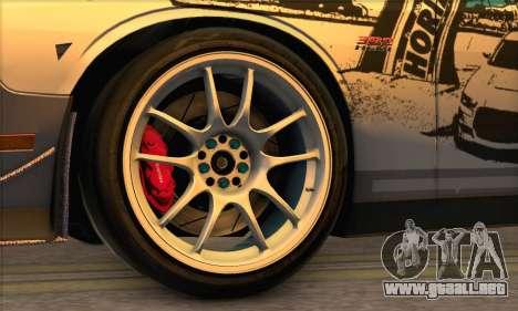 Dodge Challenger SRT8 2012 para la visión correcta GTA San Andreas