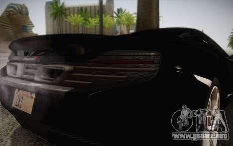 McLaren 650S Spider 2014 para visión interna GTA San Andreas