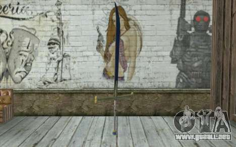 One Piece Black Sword para GTA San Andreas segunda pantalla