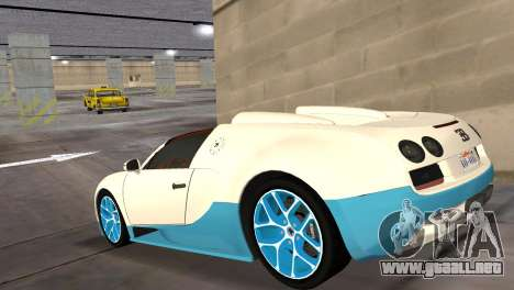 Bugatti Veyron Grand Sport Vitesse para GTA Vice City left