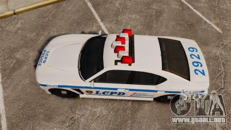 GTA V Bravado Buffalo LCPD para GTA 4 visión correcta