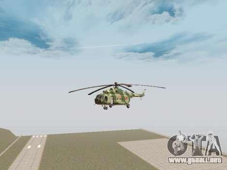 Mi-8T para GTA San Andreas vista posterior izquierda