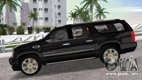 Cadillac Escalade ESV Luxury 2012 para GTA Vice City visión correcta