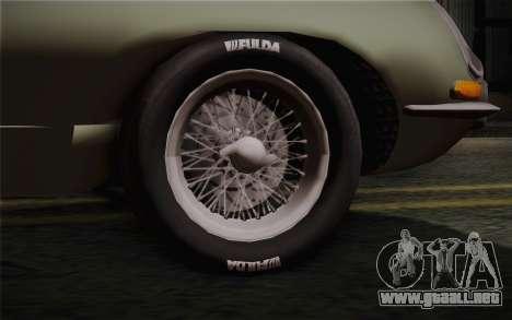 Jaguar E-Type 4.2 para GTA San Andreas vista posterior izquierda