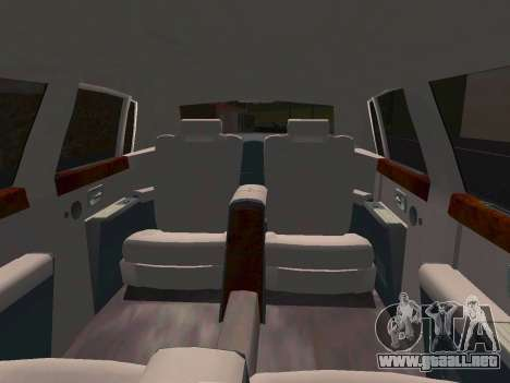 Rolls-Royce Phantom Limo para visión interna GTA San Andreas