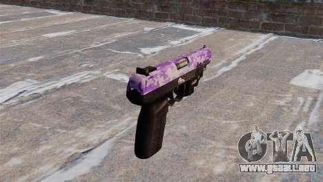 Pistola FN Five seveN LAM Púrpura Camo para GTA 4 segundos de pantalla