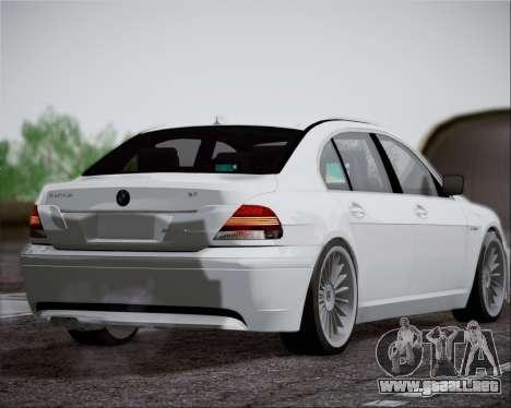 BMW Alpina B7 para la visión correcta GTA San Andreas