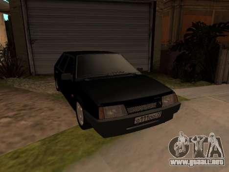 VAZ 2109 Gangster nueve V 1.0 para visión interna GTA San Andreas