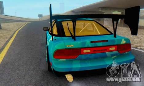 Nissan 240SX Blue Star para GTA San Andreas vista hacia atrás