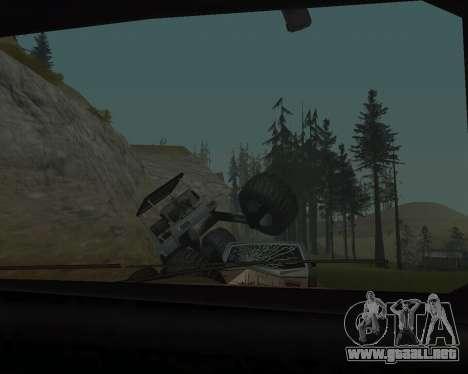 Caddy Monster Truck para GTA San Andreas vista hacia atrás