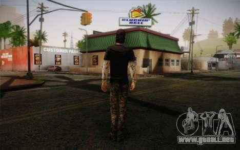 Nick из The Walking Dead para GTA San Andreas segunda pantalla