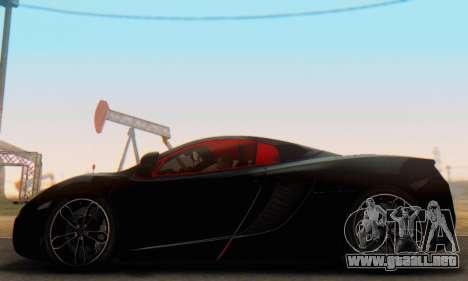 Mclaren MP4-12C Spider Sonic Blum para GTA San Andreas left
