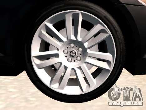 Jaguar XFR para visión interna GTA San Andreas