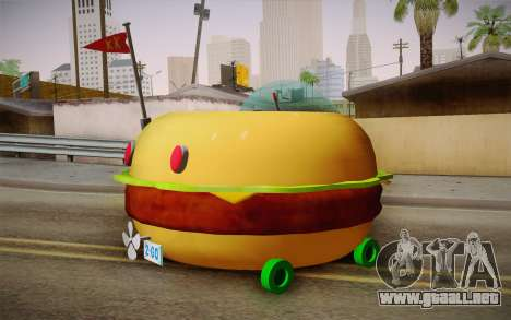 Spongebobs Burger Mobile para GTA San Andreas left