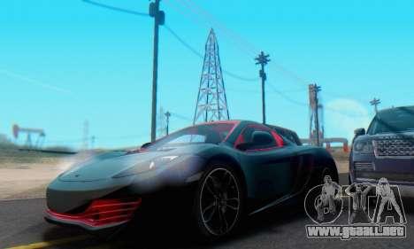 Mclaren MP4-12C Spider Sonic Blum para vista inferior GTA San Andreas