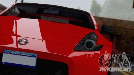 Nissan 370Z Vossen para la visión correcta GTA San Andreas