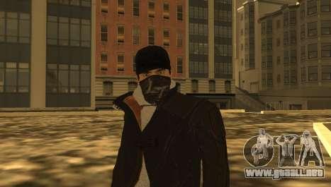 New Aiden Pearce para GTA San Andreas quinta pantalla