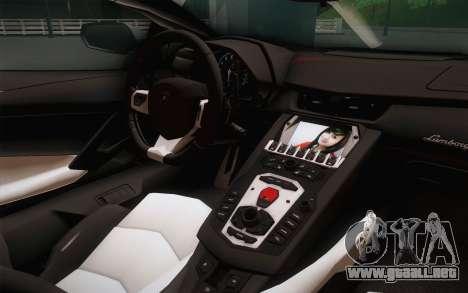 Lamborghini Aventador LP700-4 para la visión correcta GTA San Andreas