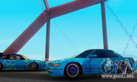 Nissan Silvia S13 Blue Star para GTA San Andreas left